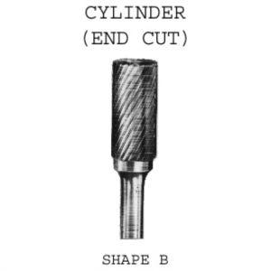 Cylinder End Cut Carbide Burrs 6mm
