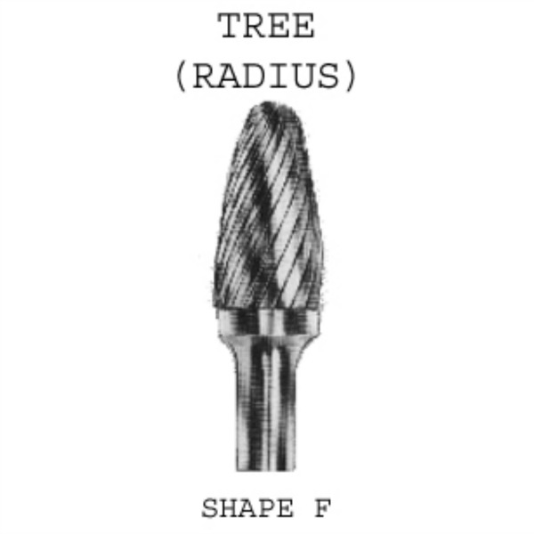 Tree Carbide Burrs - Radius 6mm