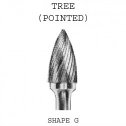 Tree Carbide Burrs - Pointed 6mm