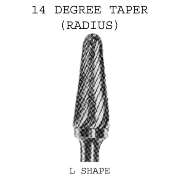 14 Degree Taper Carbide Burrs
