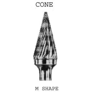 Cone Carbide Burrs 6mm