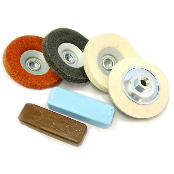 Angle Grinder Metal Polishing Kit for polishing aluminium & steel, remove  scratches & Mirror Polish Kit 44
