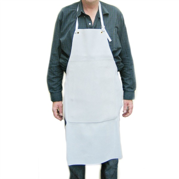Heavy Duty Aprons : Heavy duty leather apron with patch moleroda finishing