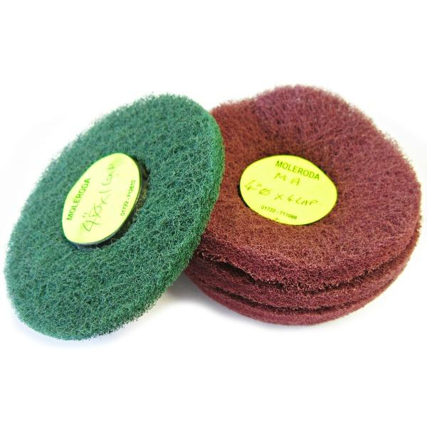 Moleroda's Lap Disc Mops - Abrasive Nylon