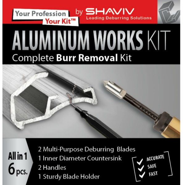 Shaviv Kit Deburring Tools For Aluminium Countersink And