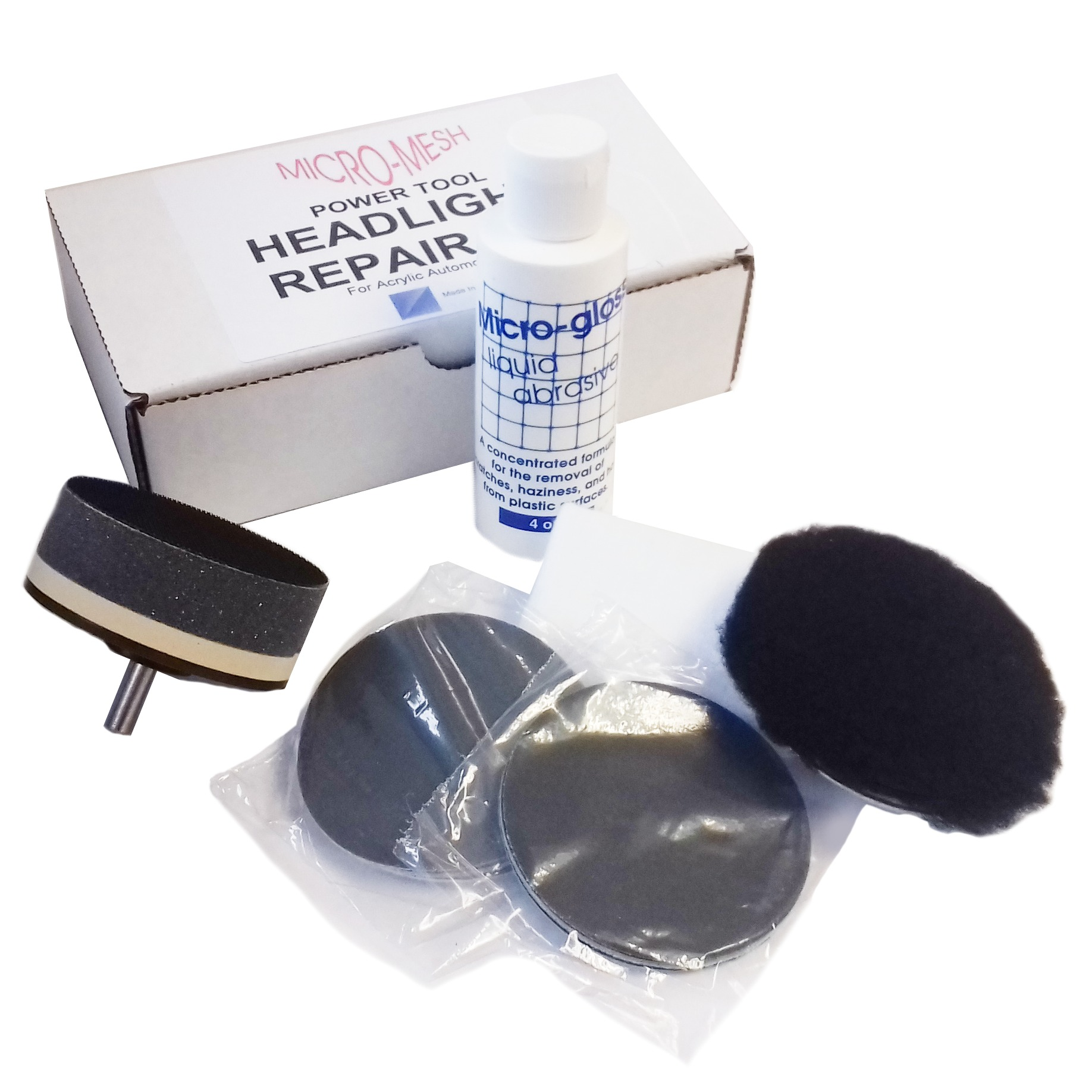 Acrylic Headlight Polishing Kit